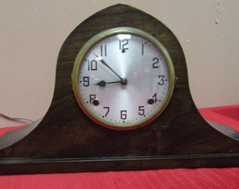antique Wm L Gilbert  mantel clock