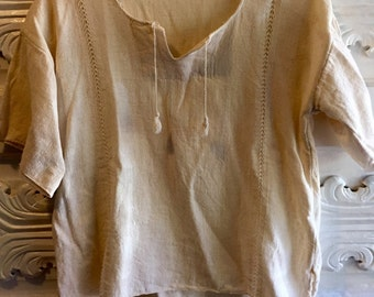 Cream cotton vintage tunic