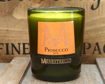 Upcycled Prosecco Bottle Candle
