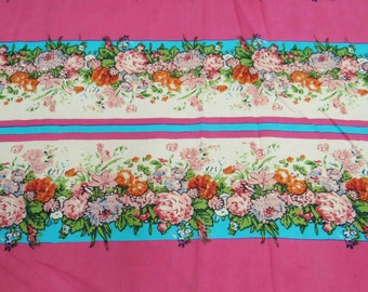 """Multi Color Pure Cotton Floral Printed Fabric 41""""Wide Sewing Quilt Crafting Material For Dress Making Indian Fabric  By 1 Yard ZBC5291"""