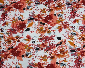 """Multicolor Floral  Pure Cotton Fabric 41"""" Wide Indian Decorative Dress Making Sewing Crafting Apparel Fabric Material By The 1 Yard ZBC5296"""