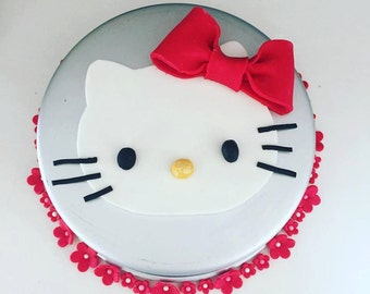 "5.5"" Hello Kitty Cake Topper and 1"" Blossoms"