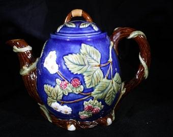 Vintage Majolica Teapot