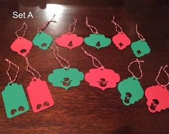 Christmas Gift Tags, Set of 12
