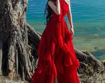 Asymmetrical Big Pendulum Sleeveless Dress