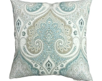 "Portfolio Latika Seafoam Decorative Throw Pillow Cover 18""x18"" or 20""x20"" or 22""x22"", Lumbar Pillow, Accent Pillow."