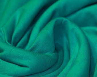Emerald Green - Cotton Lycra Jersey Knit Fabric