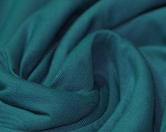 Petrol Cotton Lycra Jersey Knit Fabric