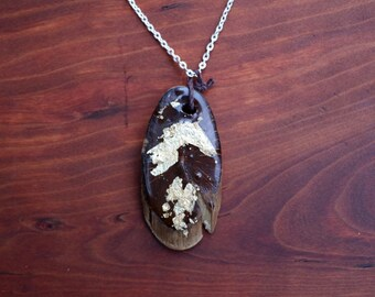 Meadowlark wooden necklace