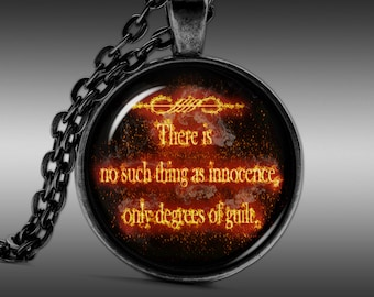 Quote Necklace, Guild Pendant, Innocence Jewelry  Pendants Charm Choker Chain FRW308