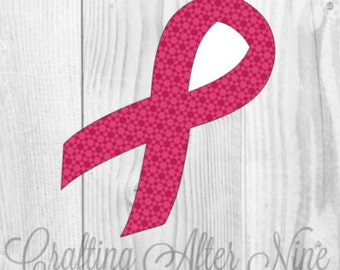 Awareness Ribbon SVG, Breast Cancer Awareness SVG, Cancer Ribbon, Cutting Files for Use with Silhouette Studio and Cricut Design Space