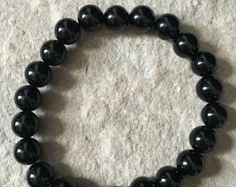 Black Onyx & volcanic lava bracelet