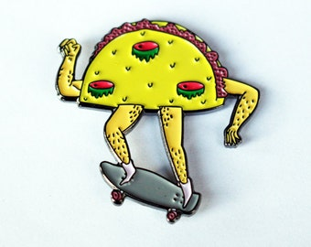 Nug Taco – Third-Eye Taco with Skateboard Pin