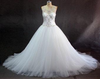 White A-Line Ball Gown wedding dress
