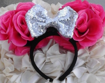 Pink Rose Blossom Minnie Ears