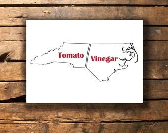 NC BBQ Barbecue Printable [Instant Download] North Carolina