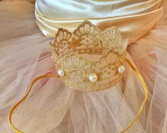 Birthday headbands, Gold crown, birthday headband, princess headband, infant crown, infant headband, newborn headbands, hair accessories