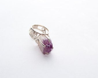 Amathyst  Sterling Silver Ring