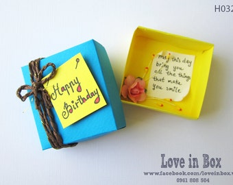Happy Birthday/Handmade Box