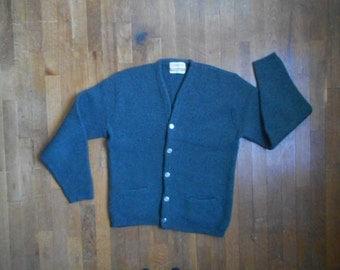 vintage 60s jantzen sportswear for sportsmen 4 ply imported shetland wool cardigan sweater made in usa