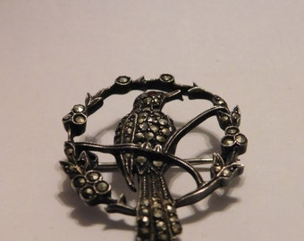 vintage Germany sterling bird brooch