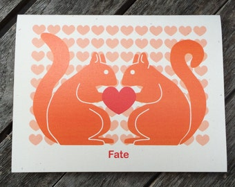 Squirrel Engagement or Wedding card - Fate - Destiny - Soul mate - Quirky card - Fun card - Squirrel series
