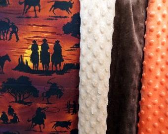Western minky blanket,Lap throw,Lap Blanket,Lap Quilt,Rodeo Blanket,Western blanket,Western Throw,Cowboy blanket,Western Lap Blanket,Roping
