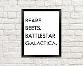 The Office, Bears. Beets. Battlestar Galactica., TV Quotes - Digital Download