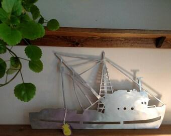 Brushed  Aluminum Shrimp Boat