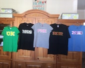 Monsters University Inspired OK or PNK or ROR or Hss or Eek Shirts Party inc