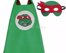 Red Teenage Mutant Ninja Turtles Cape costume Kids superhero including mask