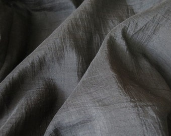 Black Cotton Silk Blend Fabric
