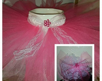 Girls pink tutu, pink and lace tutu, childrens tutu, baby tutu, toddler tutu, custom tutu, custom, pink and lace hair barrette