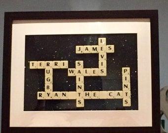 Scrabble wall art
