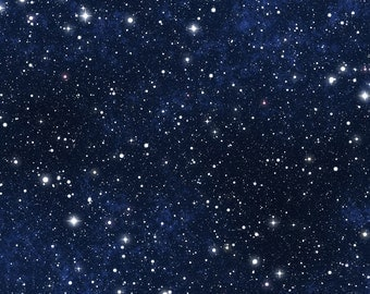 Star Sky Backdrop - night sky, astronomy, galaxy, universe - Printed Fabric Photography Background G1065
