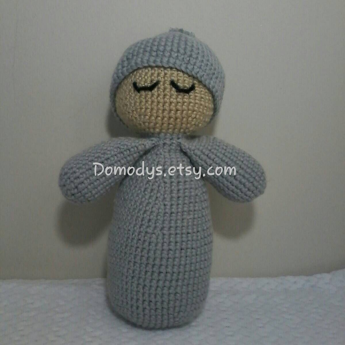 Crochet Amigurumi Head : Crochet Sleepy Head Baby First Doll Amigurumi Kids Toy