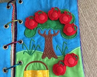Quiet Book - Busy Book - Apple Tree - Snaps- Activities for Kids - Interactive