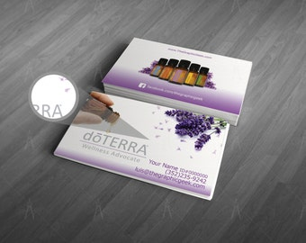 Lavender - doTERRA Independent Consultant Business Cards