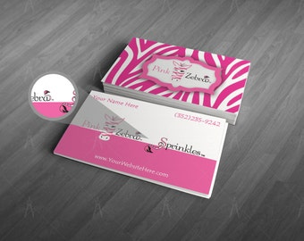 Pink Zebra Spinkles - Independent Consultant Printed Business Cards
