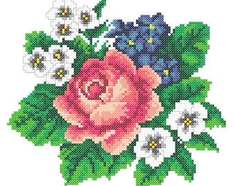 Machine Embroidery Roses, Embroidery Roses, cross stitch embroidery roses