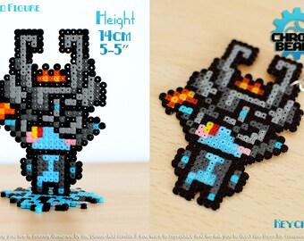 Midna - Legend of Zelda - Twilight Princess - keychain - stand figure - ORIGINAL DESIGN - hama beads - perler beads