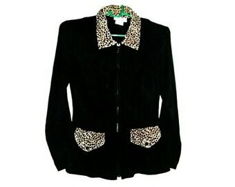 Black and Leopard blazer