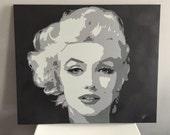 Marilyn Monroe - Spray Paint on Canvas - Canvas Art - Custom Orders