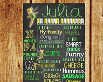 SALE 15% OFF Tinkerbell Birthday Chalkboard - Poster DIY/Printable