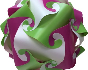 Green, Purple & White IQ Puzzle Lamp