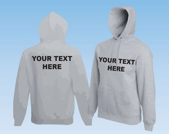 Grey Hoodie sweatshirt Workwear or Leisure wear ideal for Corporate, events or Stag do,Hen do. PERSONALISED