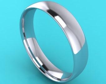 platinum  gents 5mm medium court wedding ring / band 950 purity / 5mm men's band. / platinum wedding ring / platinum wedding band / platinum