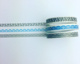 Set of three skinny washi