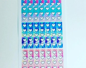 Heart check list planner stickers