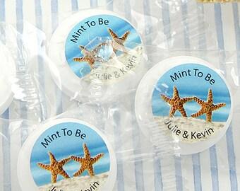 Wedding Favors Mints, Dancing Starfish Life Savers® Mints, Bridal Shower Mints, Mint to Be - Set of 50